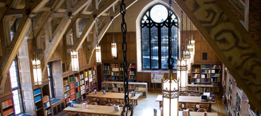 Elizabeth Morse Genius Reading Room, viewing south (2009)