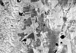 Corona satellite image of a series of ancient tells