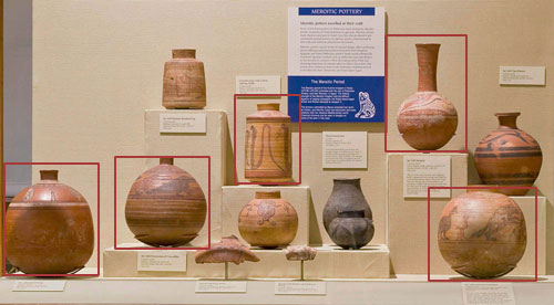 Meroitic Pottery Display Case