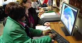 Image: Educators explore online Oriental Institute resources.