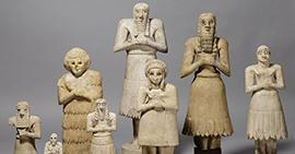 Image: Sumerian Worshipper Figurines from the Oriental Institute collections.