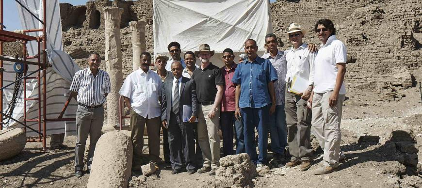 Chicago House hosted MAH Deputy Minister Dr. Yousef Khalifa and his entourage at Medinet Habu