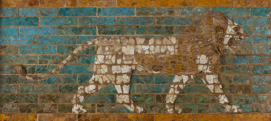 Glazed Brick Lion