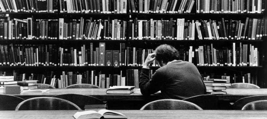 Library Patron in the Research Archives Reading Room