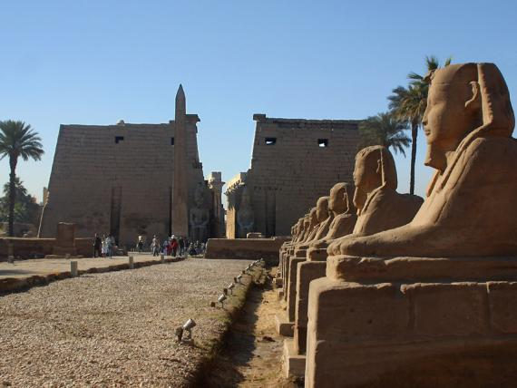 Luxor Temple from the north.  Photo by Ray Johnson