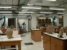 Photo of the Conservation Lab taken in 2002