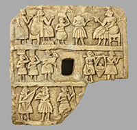 OIM A12417, stone plaque, Mesopotamia, Iraq