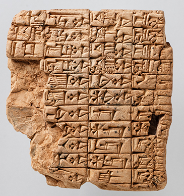 OIM A3670, clay tablet, Mesopotamia
