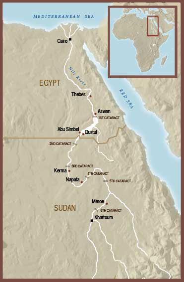 The History Of Ancient Nubia The Oriental Institute Of The - Map of egypt 2000 bc