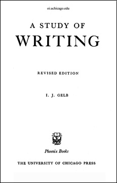 the study of writing